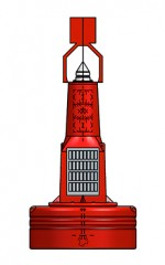 1250mm plastic navigation buoy