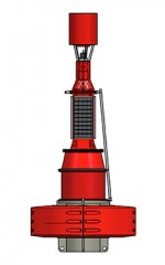 3000mm plastic navigation buoy