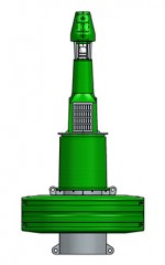 2400mm plastic navigation buoy