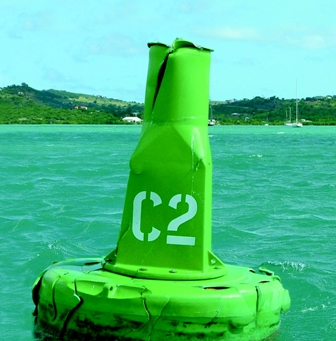 antigua damaged buoy